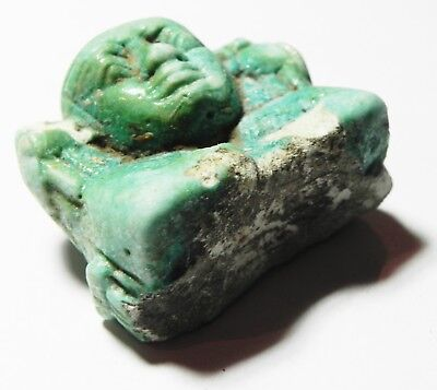 Zurqieh -Asw314-  Ancient Egypt, Faience Fragment Of A Large Amulet. 600 B.c 2