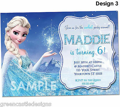3 Of 6 Disney Frozen Birthday Invitations PRINTED Party Invites Envelopes