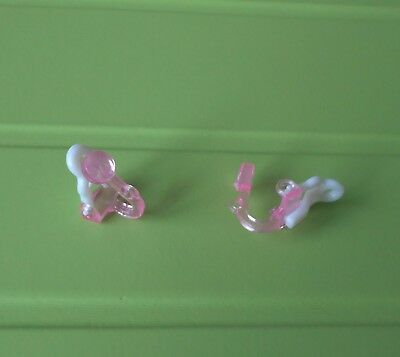 Pink Plastic Clip-on Earring Findings 14mm Tall - Very Comfortable