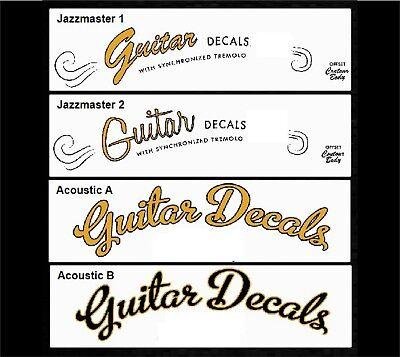 Guitar Neck Waterslide Headstock Decals - Headstock decal -  2 for £9.50 8