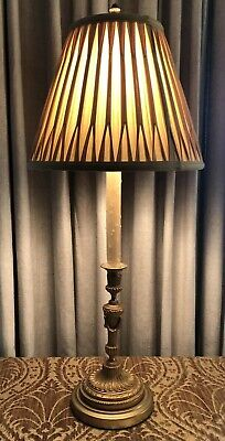 Antique Gilt Bronze Neoclassical French Candlestick Lamp 5