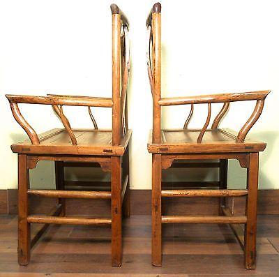 Antique Chinese Ming Arm Chairs (5910) (Pair), Circa 1800-1849 11
