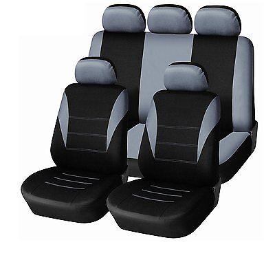 1+1 vordere Sitzbezüge Schonbezüge Schonbezug Polyester StVZO zugelassen Grau