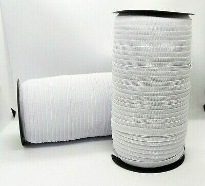 4 8 10 15 20 35 40 60mm Flat Black Woven Elastic Tape Stretchy Band Made Europe 9