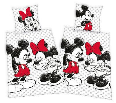 Mickey Maus Minnie Mouse Partner Bettwäsche 2x 80x80 135x200 100