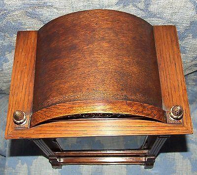 Antique Oak & Brass TING TANG Bracket Mantel Clock WINTERHALDER HOFFMEIER W & H 7