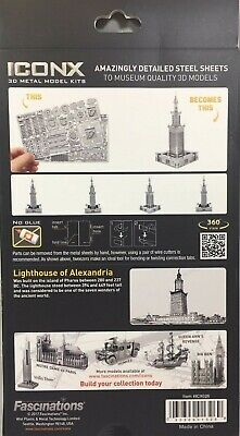 Fascinations ICONX Lighthouse of Alexandria 3D Metal Earth Laser Cut Model Kit