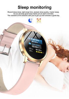 Smart Watch Fitness Tracker Heart Rate Blood Pressure Waterproof Tempered Mirror 6