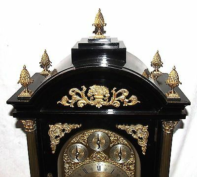 Massive Triple FUSEE Musical Mantel Bracket Clock on 8 Bells & Westminster Chime 4