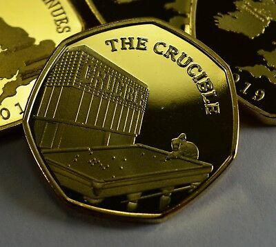Pair of THE CRUCIBLE Commemoratives. 24ct Gold. Silver. Albums/Filler 2019 5