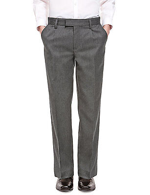 Ex M&S Boys Black Grey School Trousers Skinny Fit Age 7 8 9 10 11 12 13 14 15 16 7