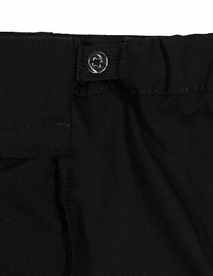 Ex-M&S Girls Slim Fit School Trouser Ages 3 - 16 Black Grey Navy Narrow Leg Slim 3