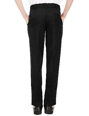 Ex M&S Plus Size Sturdy Fit Boys Black School Trousers Generous Fit Ages 2-16 9