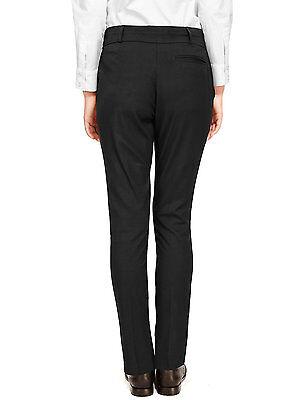 Ex-M&S Girls Slim Fit School Trouser Ages 3 - 16 Black Grey Navy Narrow Leg 4