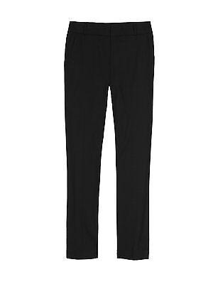 Ex-M&S Girls Slim Fit School Trouser Ages 3 - 16 Black Grey Navy Narrow Leg 2