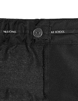 Ex M&S Plus Size Sturdy Fit Boys Black School Trousers Generous Fit Ages 2-16 3