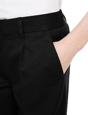 Ex M&S Plus Size Sturdy Fit Boys Black School Trousers Generous Fit Ages 2-16 11