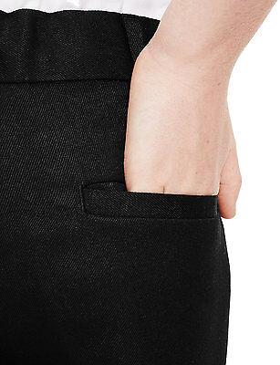 Ex M&S Plus Size Sturdy Fit Boys Black School Trousers Generous Fit Ages 2-16 6