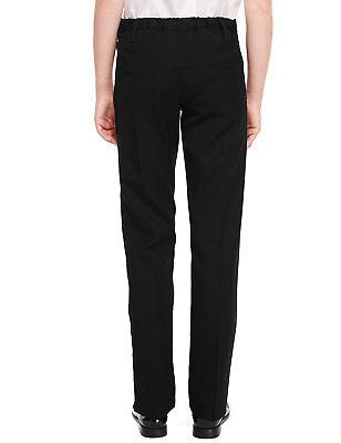 Ex-M&S Girls Slim Fit School Trouser Ages 3 - 16 Black Grey Navy Narrow Leg Slim 6