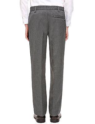 Ex M&S Plus Size Sturdy Fit Boys Black School Trousers Generous Fit Ages 2-16 5