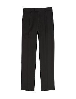 Ex M&S Plus Size Sturdy Fit Boys Black School Trousers Generous Fit Ages 2-16 4