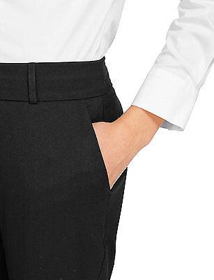 Ex-M&S Girls Slim Fit School Trouser Ages 3 - 16 Black Grey Navy Narrow Leg 5