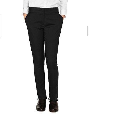 Ex-Store Girls Skinny Leg School Trouser Age 9-16 Black Slim Tapered Narrow Leg 2