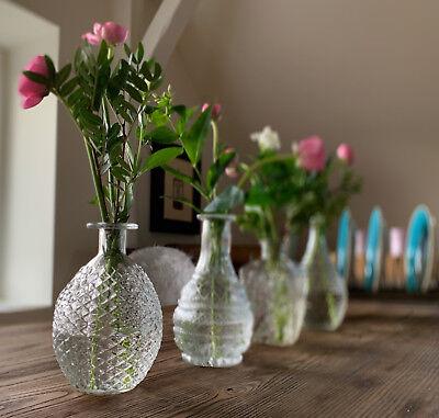 4x Deko-Flaschen Glasvase Tischvase 20cm Set Blumenvase Glasflasche Vase Väschen 3