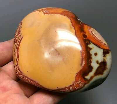Polished POLYCHROME JASPER HEART Reiki Healing Palm Stone - Madagascar 8