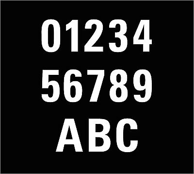 """3 X White Wheelie Bin House Number Stickers 7"""" High OR Recycling Stickers 4"""