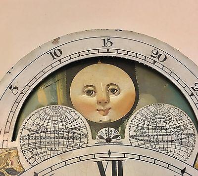 ~ Mahogany Grandfather Longcase Clock Rolling Moon Movement  W Jones Manchester 10
