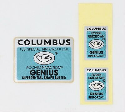 Columbus GENIUS Bicycle Decal Transfer Sticker Set 23