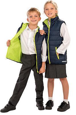 Kids AGES 2-14 Padded Insulated BODY WARMER Waistcoat Gilet Top Showerproof *** 3