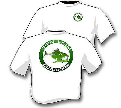 Dixie Land Outdoors Bass Fishing  Logo T shirt Bass hunter lure reel rod master