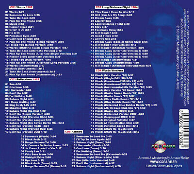 F.r. David - Words & Melodies - Best Of & Rarities - 5 Cd New 2020 2