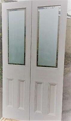 Internal French Door Etched Glass Painted White 3