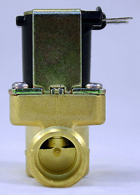 1/2 inch 24V AC VAC Slim Brass Solenoid Valve NPS Gas Water Air Normally Closed