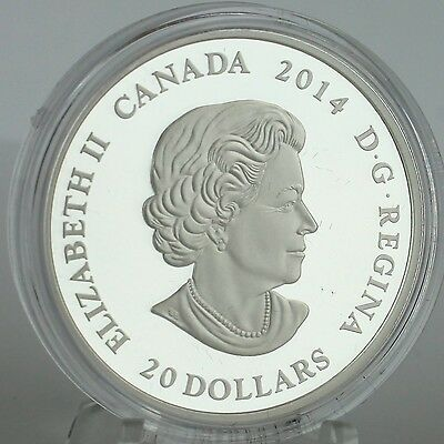 Canada 2014 $20 Stained Glass: Casa Loma, 1 oz. Pure Silver Coin, #2 in Series 6