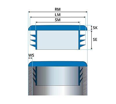 tapones para tubo rectangulares enchufe obturación conteras plasticos tapón 2
