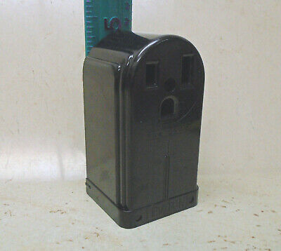 LEVITON 50A 250V Receptacle Surface Mount VTG Bakelite Electric Outlet ART DECO 3