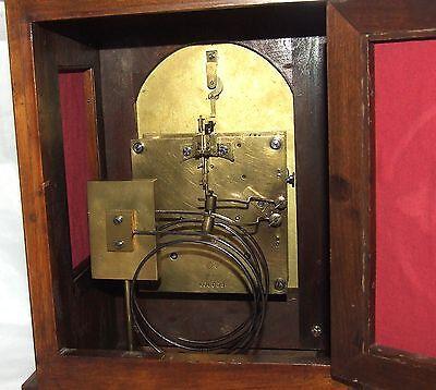 # Antique LENZKIRCH Walnut TING TANG Bracket Mantel Clock : SERVICED & WORKING 11