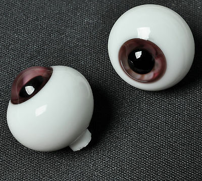 New Colorful DarkBrown 16mm Glass Eyes for Joint Reborn 1/4 BJD Dollfie