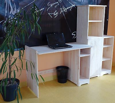 B rom bel regal komode schrank computertisch schreibtisch for Schreibtisch set