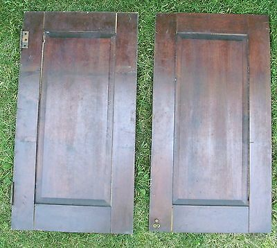 """Antique Vintage Pair Cabinet Doors from Old School Chemistry Lab 30"""" Tall 4"""