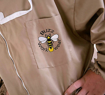 BUZZ Beekeepers BEE JACKET, Cappuccino with fencing hood CHILDREN'S LARGE (XS)