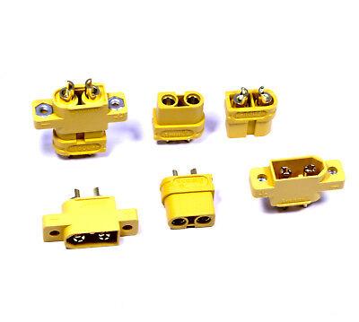 Premium XT60E XT60 XT60E-M Einbaustecker Goldstecker Stecker Buchse + Schrauben 7