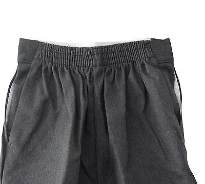 Boys Quality*-*REGULAR slim FIT SLIM LEG*Trouser*ELASTICATED waist 8-13yrs-NEW 2