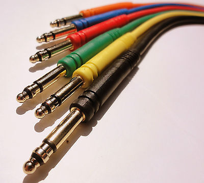 """24 New Gold TT Bantam 24"""" Quad Core Patch Cables Cords 2 Foot Leads 4 Conductor 3"""