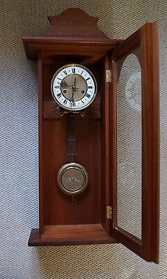 Old Vienna  wall clock with key fully working 11