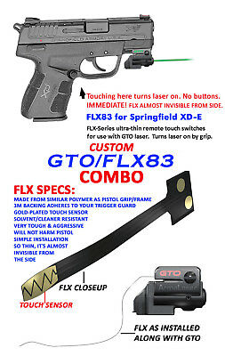 "FLX12 Grip On//Off 5.25/"" GREEN Laser Sight ArmaLaser GTO Springfield XDM 4.5/"""